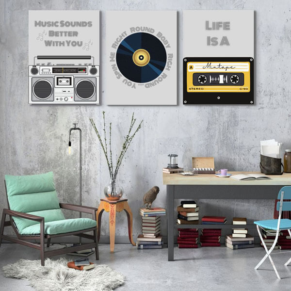 1980s music-inspired wall art prints for your home office| FREE USA SHIPPING | www.wallArt.Biz