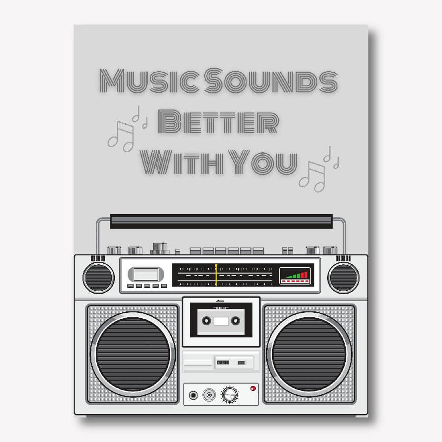 Ghetto Blaster, 80s music wall art | FREE USA SHIPPING | www.wallArt.Biz