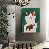 Quirky Cartoon Cats Wall Art