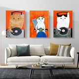 DJ Cats - Quirky Gallery Wall Art - Free US Shipping - www.wallart.biz