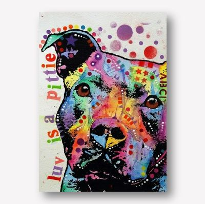 Pit Bull Wall Art | Dog Art Studio Shot | Animal Canvas Print