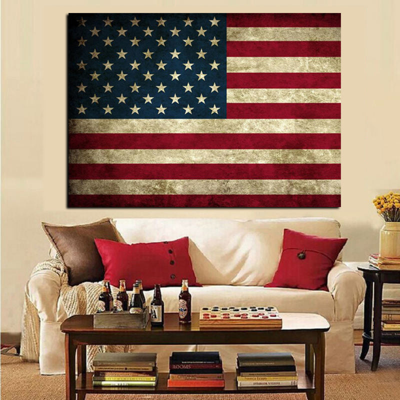 stars and stripes flag canvas print