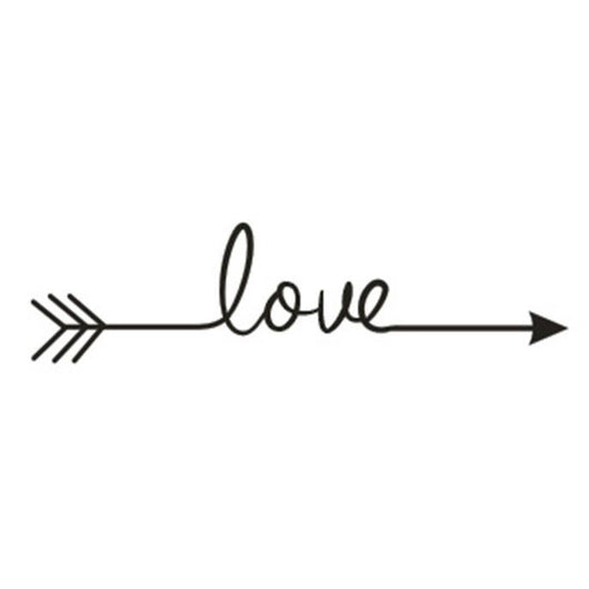 Love Arrow Decal Living Room or Bedroom  Artistic Wall Sticker