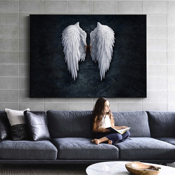 Large Angel wIngs wall decor - free USA shipping