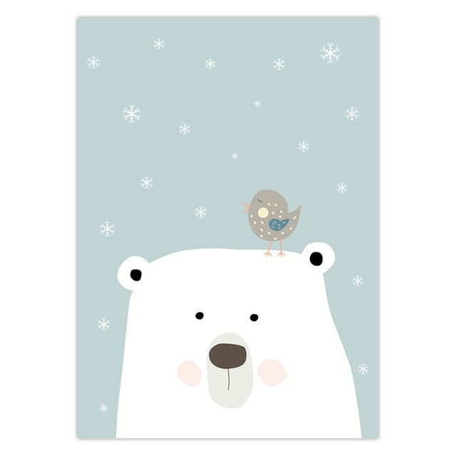 Polar Bear Nursery wall art | Free Shipping | www.wallart.biz