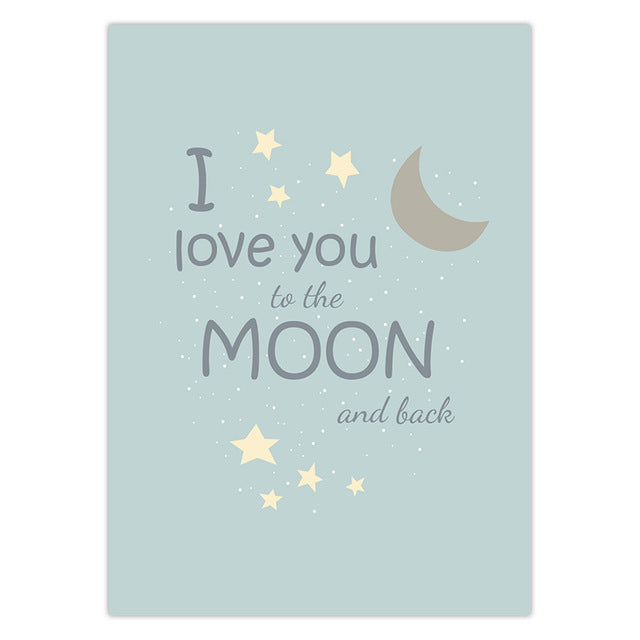 I love you to the moon & back wall art | Free Shipping | www.wallart.biz