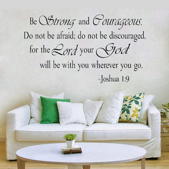Joshua 1:9 wall decor sticker