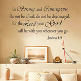 Joshua 1:9 artistic wall sticker