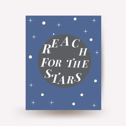 reach for the stars - free usa shipping -www.wallart.biz