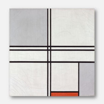 Piet Mondrian - Composition (No. 1) Gray-Red