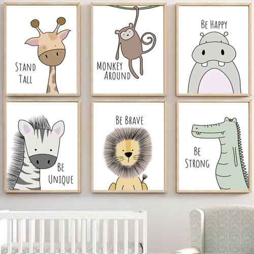 Safari Nursery Wall Decor | Free USA Shipping | www.wallart.biz