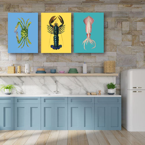 Sea Creatures  | Free USA Shipping | Wallart.biz