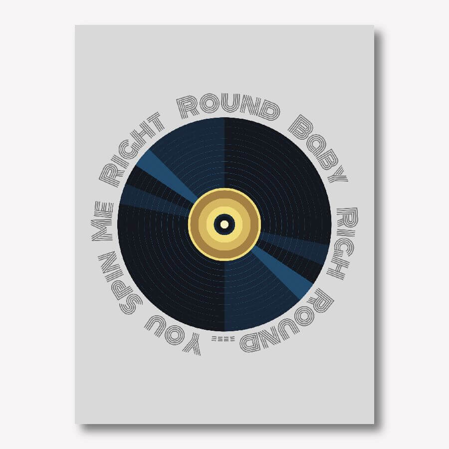 You Spin Me Right Round, 80s music wall art | FREE USA SHIPPING | www.wallArt.Biz
