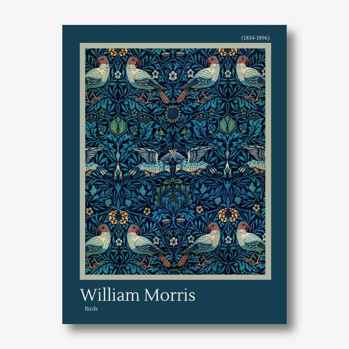 William Morris - Birds Wall Art | FREE USA SHIPPING | WallArt.Biz