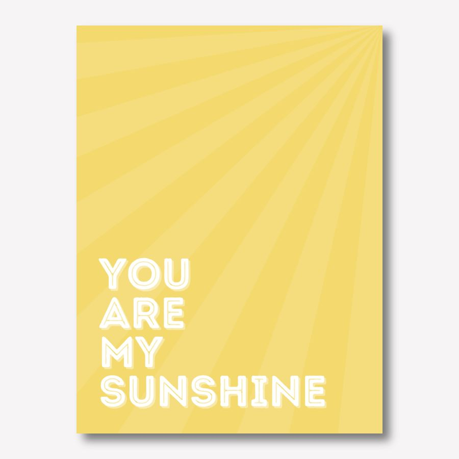 Yellow canvas art - You are my Sunshine | FREE USA SHIPPING | www.WallArt.Biz