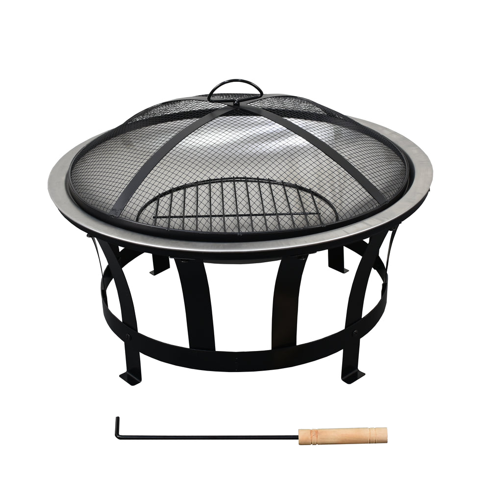 24' Fire Pit With Solid 302 Grade Steel Construction