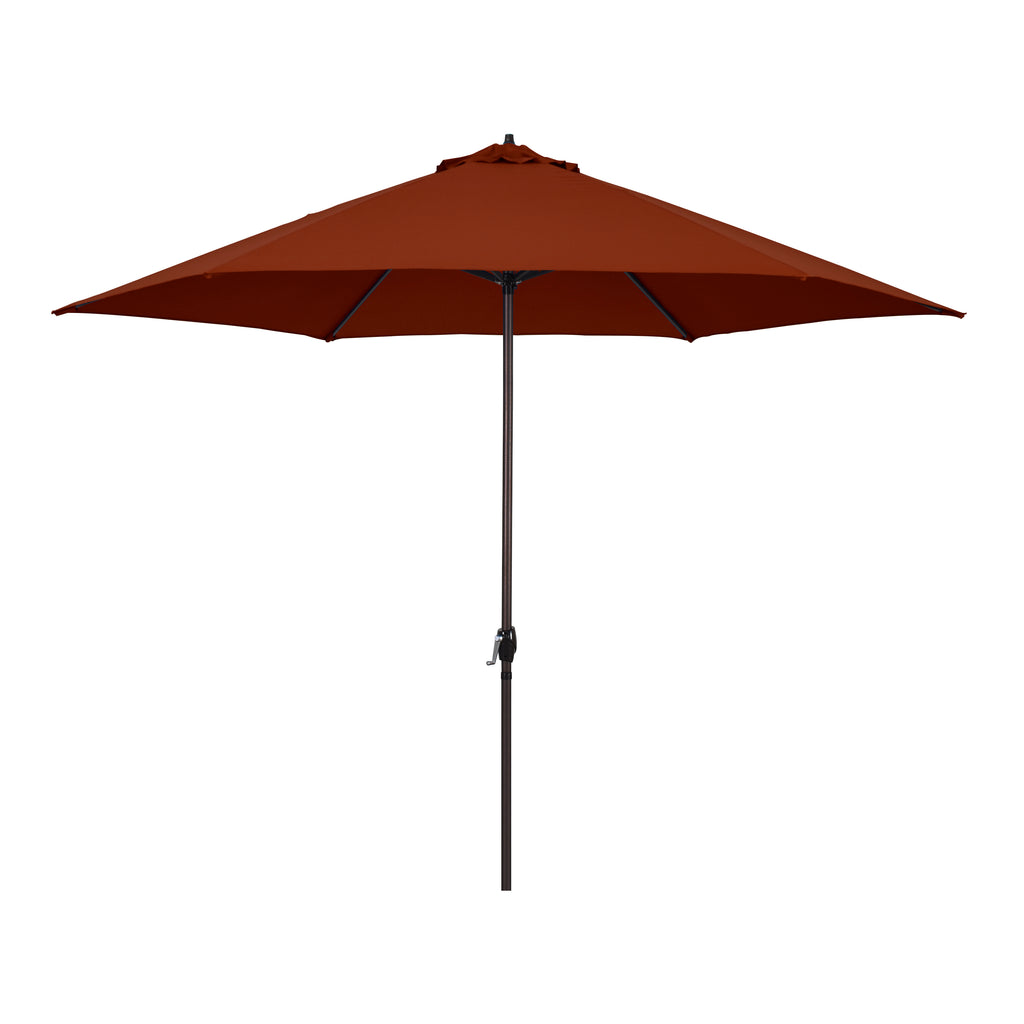 11' Aluminum Market Umbrella With Crank Lift in Polyester
