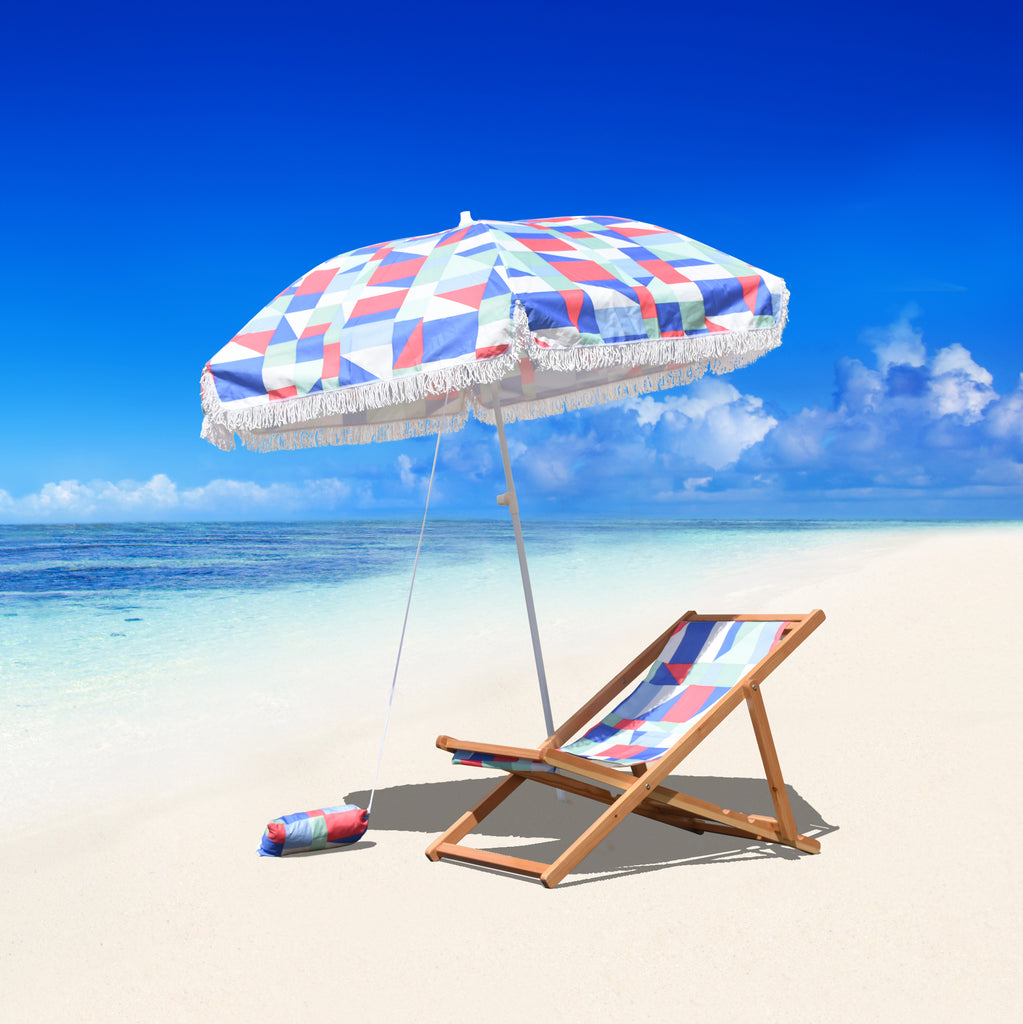 6.5 ft Beach Umbrella in Quixotic