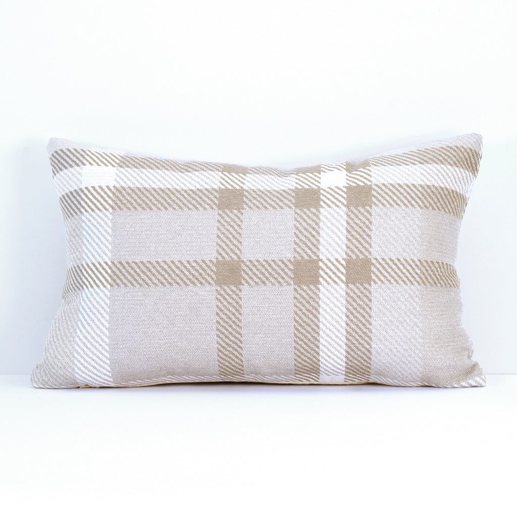 "Pacifica Throw Pillow in Tartan - 12"" x 18"""