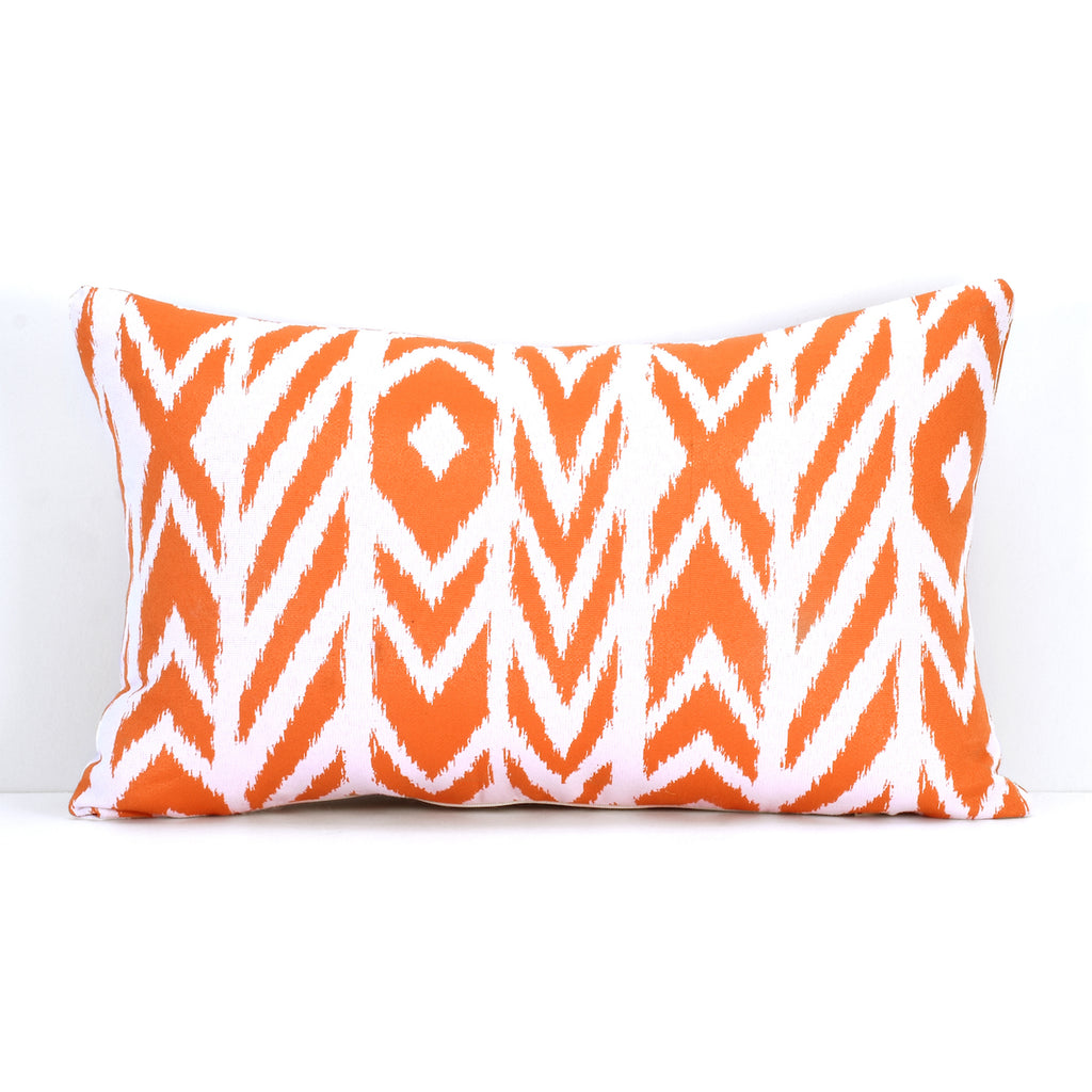"Pacifica Throw Pillow in Fire Island - 12"" x 18"""