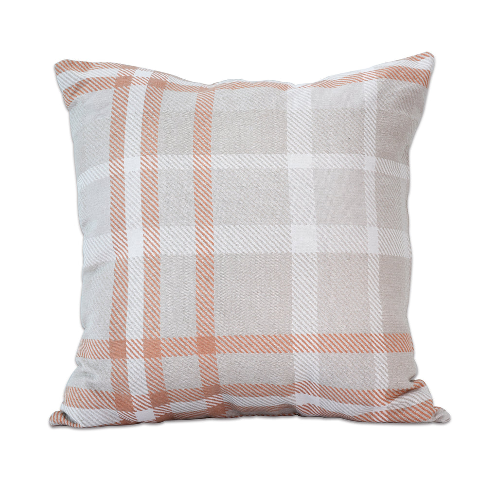 "Pacifica Throw Pillow in Tartan - 24"" x 24"""