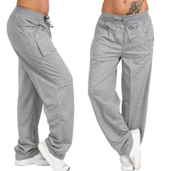 🎈🎈Final Year End Sale🎈🎈 Casual Loose High Waist Bottoming Sports Trousers