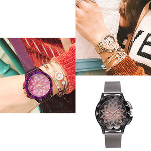 🔥2019 Big Sale🔥 Rotating Magnet Simple Quartz Women's Watch