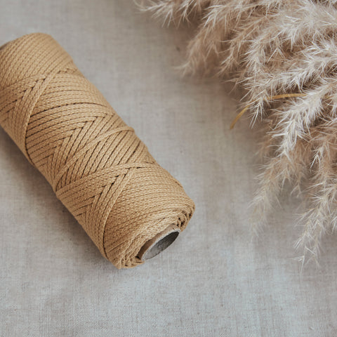 Macramé Cotton Vanilla Custard Rope | 3mm