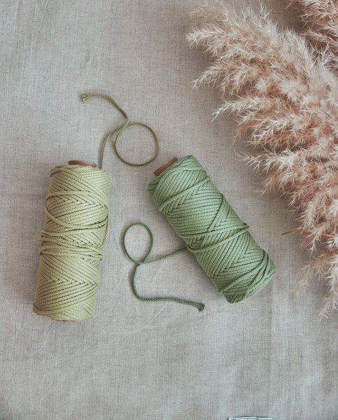 Macramé Cotton Lily Green Rope | 3mm