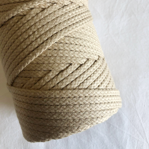 Macramé Cotton Natural Sand Rope | 6mm
