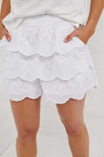 Load image into Gallery viewer, Binny Brown Pins Ruffled Shorts