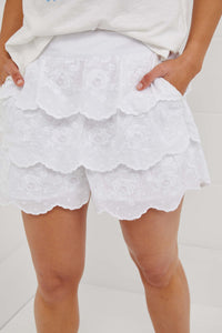 Binny Brown Pins Ruffled Shorts