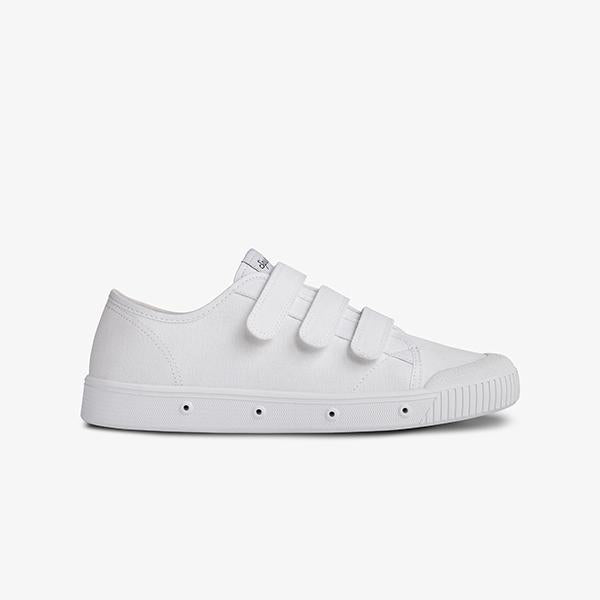 Springcourt White leather sneaker Scratch ( Velcro)