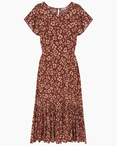 Lily and Lionel Rae Dress Floral Mahogany