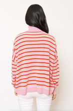 Load image into Gallery viewer, Alessandra Camille Polo Cashmere Sweater in Fuchsia Pink