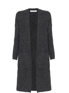 Skin and Threads Longline Cardi Charcoal