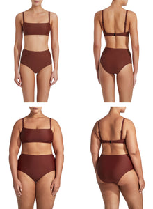 Matteau High Waist Brief-  Rust