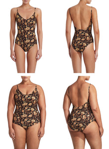 Matteau Scoop Maillot Ginger Hibiscus