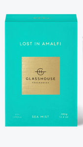 Lost in Amalfi glasshouse candle
