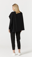 Load image into Gallery viewer, Cable cashmere poncho black lurex