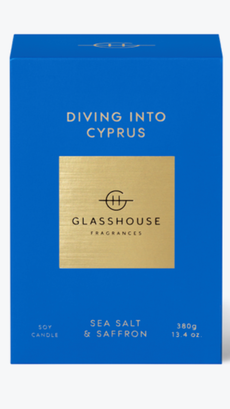 Diving into Cyprus glasshouse candle