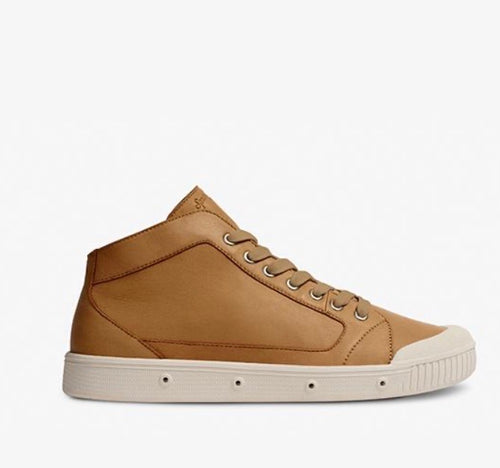 SPRING COURT - MENS Lambskin High top in Camel