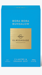 Bora bora bungalow glasshouse candle