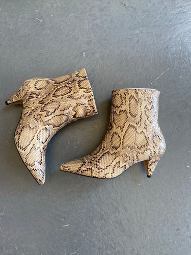 Ivy Lee Casablanca faux snakeskin leather boots