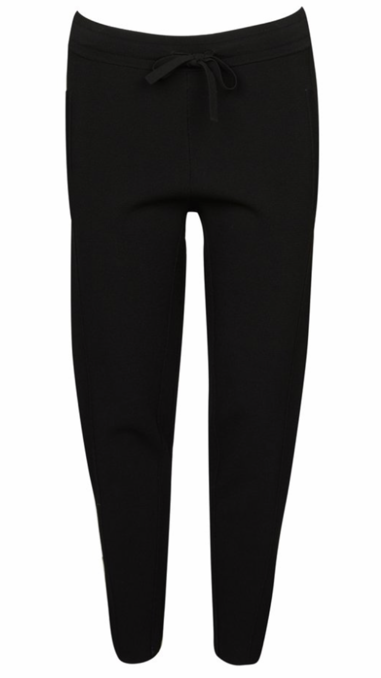 Cable crepe jogger pant