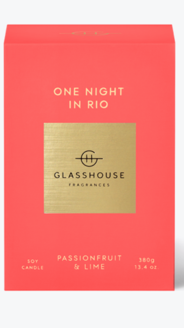 One night in rio glasshouse candle