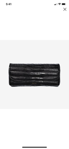 Anine Bing Natasha Clutch Black Croco