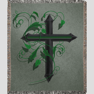 MILITARY CROSS Woven Blanket