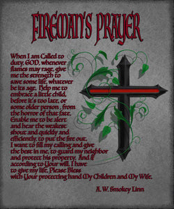 CANVAS WRAP, FIREMAN'S PRAYER, 18X22