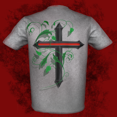 FIRE CROSS T-SHIRT, STRAIGHT DESIGN